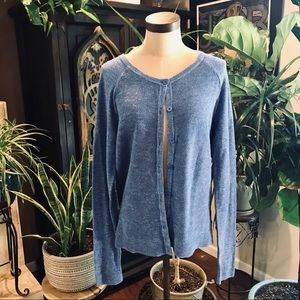 Merona textured azul cardigan sweater